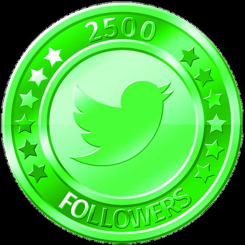 get 2500 twitter followers